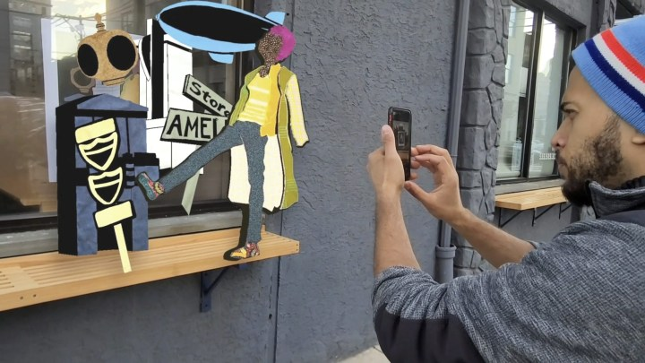 Through Augmented Reality, This Artist's Poster Comes to Life
