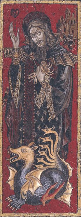 Ayami-Kojima-Dracula-Iconography-in-a-Byzantine-style-painting