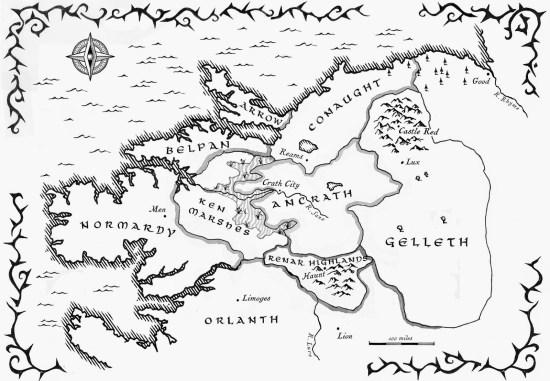 Mappa del mondo in cui interagiscono i personaggi de Il principe dei fulmini