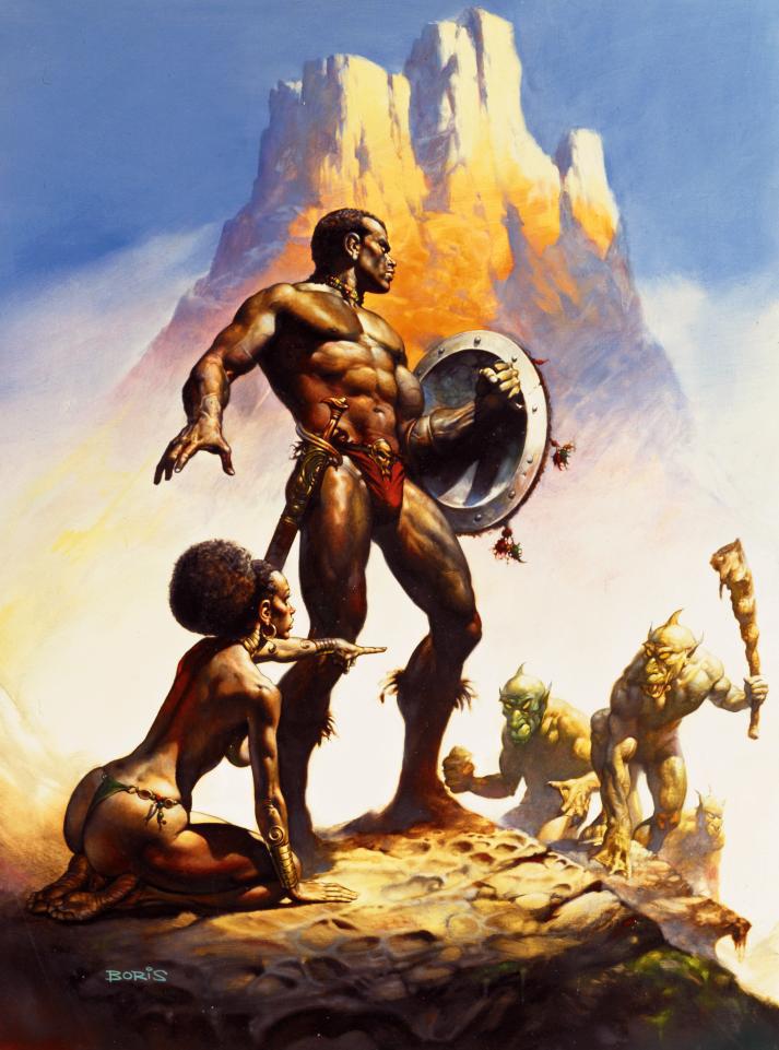 Nubian Warrior by Boris Vallejo