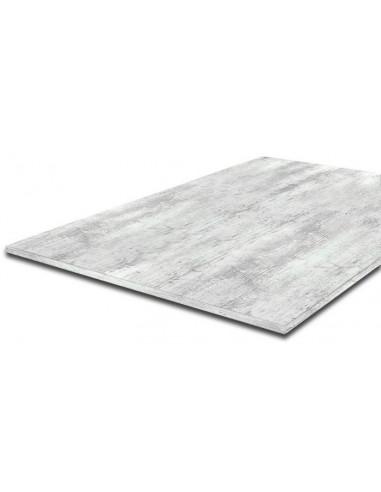 supbois tablette plateau de bureau melamine chene blanchi 120 x 80 cm ep 18 mm