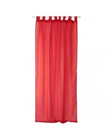 decostars voilage a 8 pattes 140 x 240 cm rouge vif