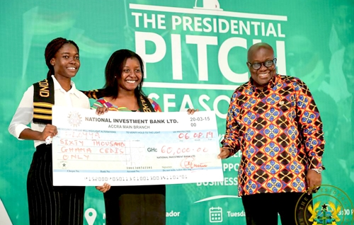 KNUST students who invented sanitary pads from plantain fibre get GH¢100,000 support