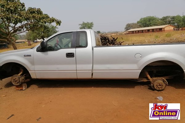 Angry youth ground NPP chair's vehicle for failing to give them jobs