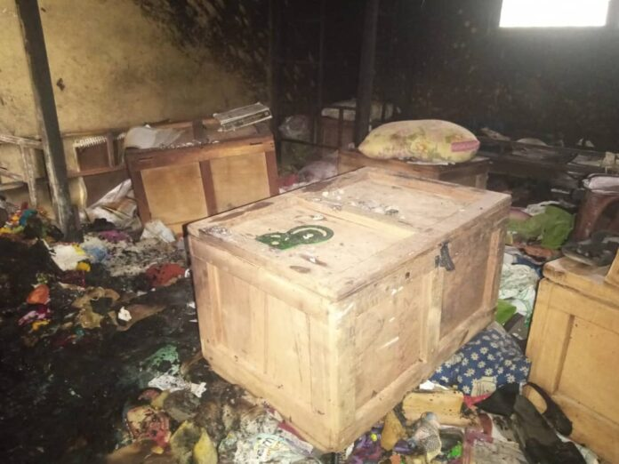 JUST IN: Fire ravages storeroom of Islamic Girls SHS