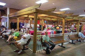 Tourists waiting for a show at Branson, Missouri.