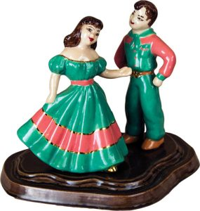 Hobbyist ceramic square dancers.  (click to enlarge)
