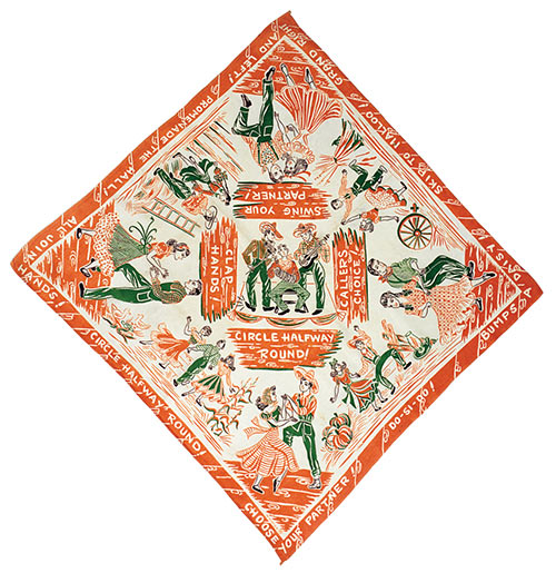 1950s country square dance bandana.