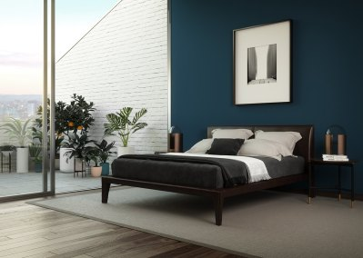 rendering-3d-interni-bedroom-blue-wall