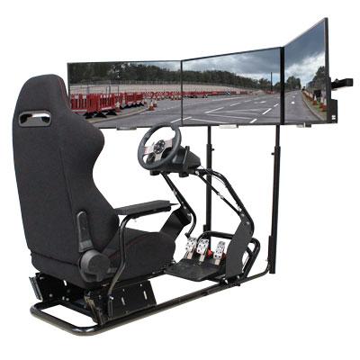 hydraulic racing simulator chair giant beanbag cockpits driving flight simulators hyperdrive display screens