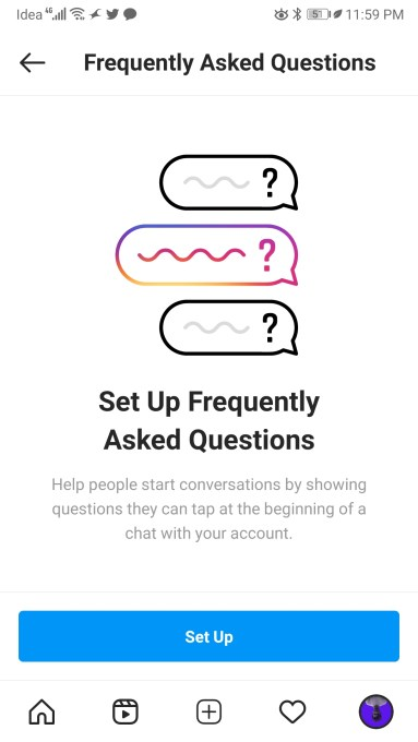 instagram businesses and creators may be getting a messenger like faq feature hyperedge embed image