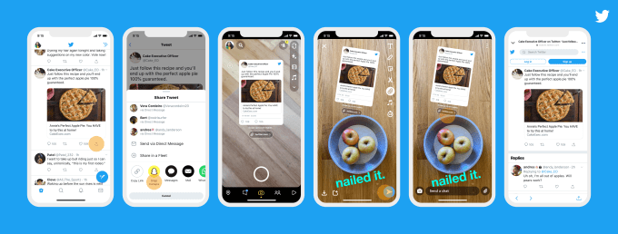 snap launches a native twitter integration hyperedge embed image