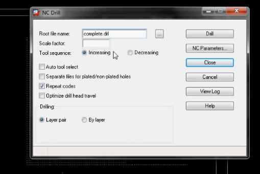 How to configure NC drill file in Allegro
