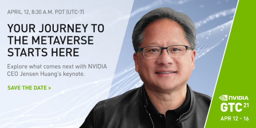Keynote talk details. Image of NVIDIA Found and CEO Jensen Huang