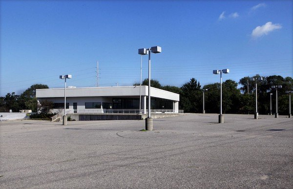 an empty car lot