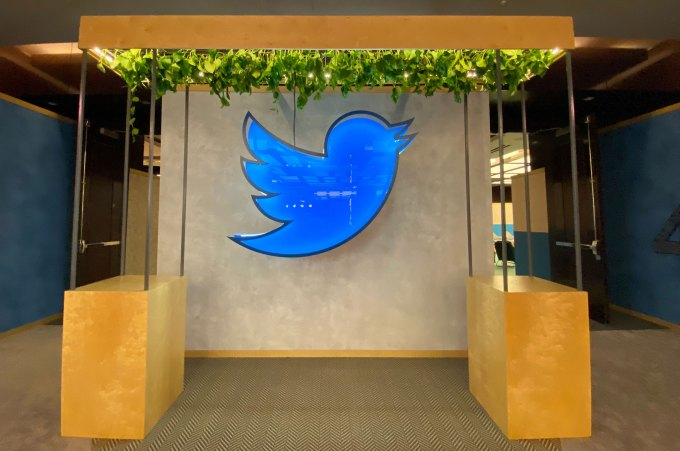 Twitter logo at CES 2020