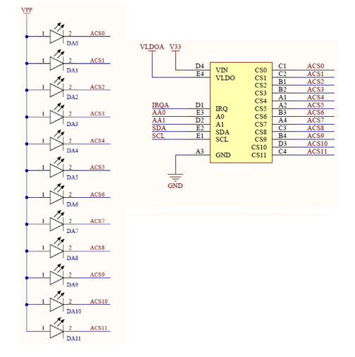 Schematic with labeled nets