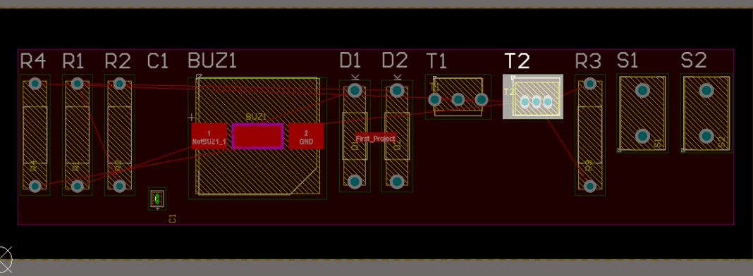 Example of PCB layout