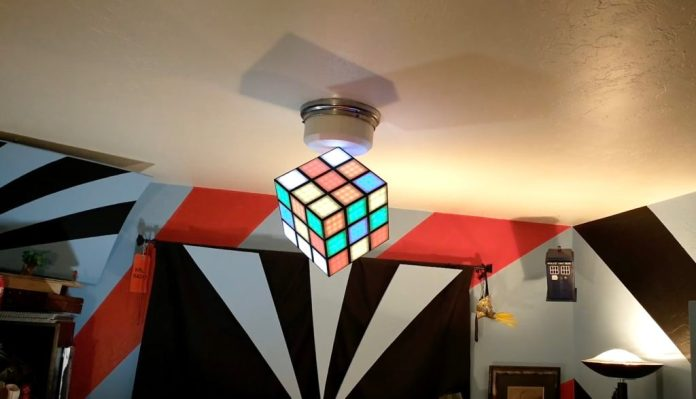 arduino controlled rubiks cube chandelier solves itself hyperedge embed image