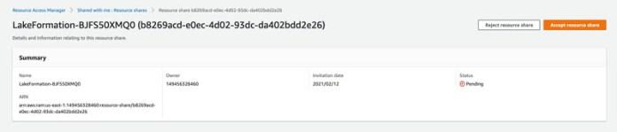 enable cross account access for amazon sagemaker data wrangler using aws lake formation 12 hyperedge embed image