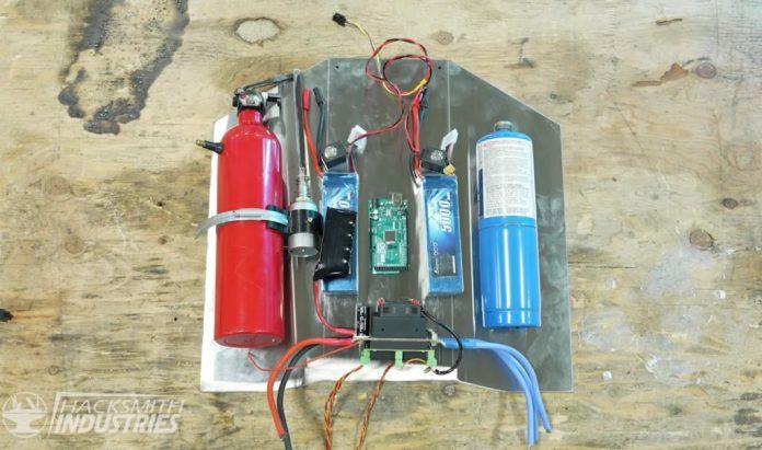 the hacksmith team made a mandalorian jetpack using arduino 1 hyperedge embed image