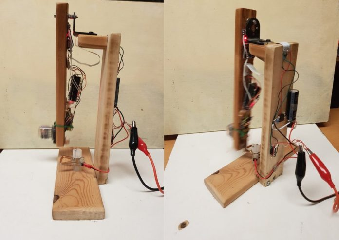 this pendulum pov clock uses a nixie tube to plot the time as it swings 1 hyperedge embed image