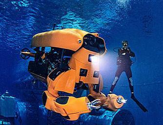robot performing underwater tasks
