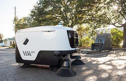 Viabot sweeper robot
