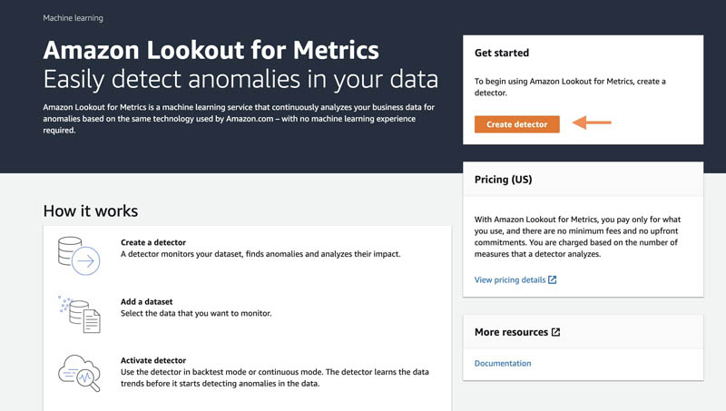 connect to your amazon cloudwatch data to detect anomalies and diagnose their root cause using amazon lookout for metrics 1 hyperedge embed image