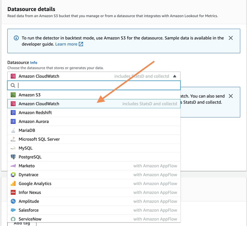 connect to your amazon cloudwatch data to detect anomalies and diagnose their root cause using amazon lookout for metrics 6 hyperedge embed image