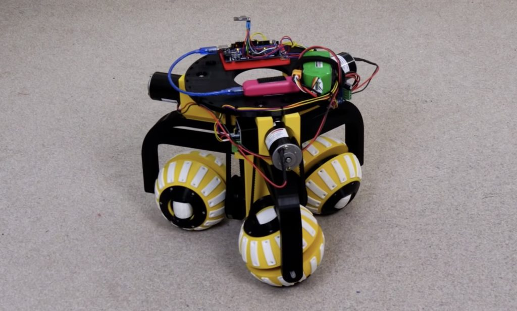 james brutons robot uses three ball shaped wheels to move in any direction hyperedge embed