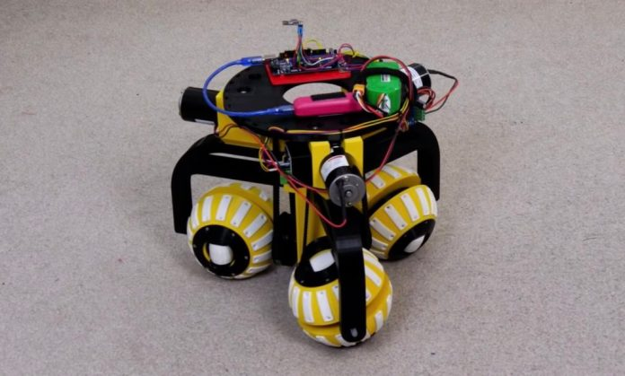 james brutons robot uses three ball shaped wheels to move in any direction hyperedge embed image