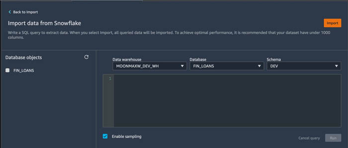 prepare data from snowflake for machine learning with amazon sagemaker data wrangler 7 hyperedge embed