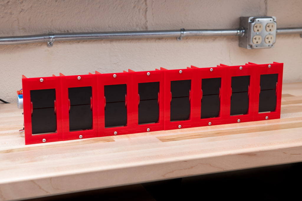 recreating an old school mechanical split flap display with arduino hyperedge embed