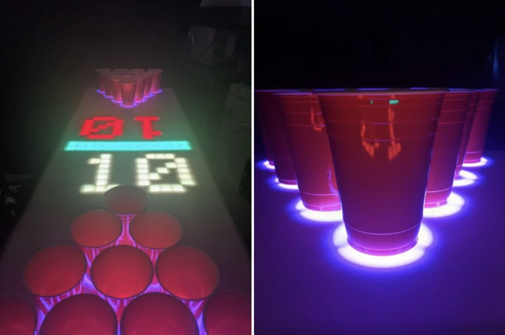 this interactive beer pong table is lit literally hyperedge embed image