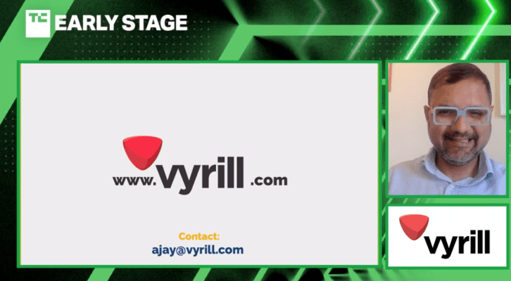 vyrill winner of the tc early stage pitch off helps brands discover and leverage user generated video reviews hyperedge embed image