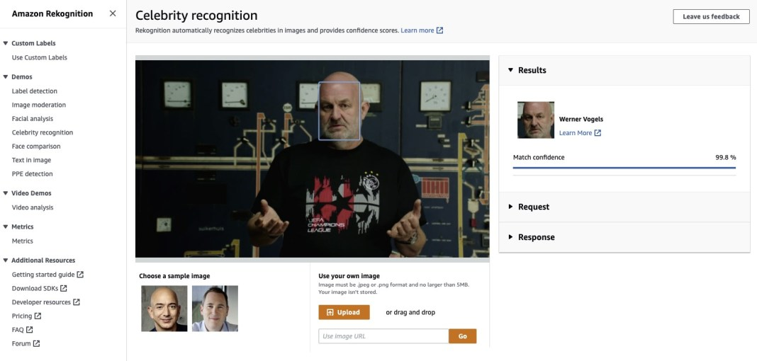 recognize celebrities in images and videos using amazon rekognition hyperedge embed