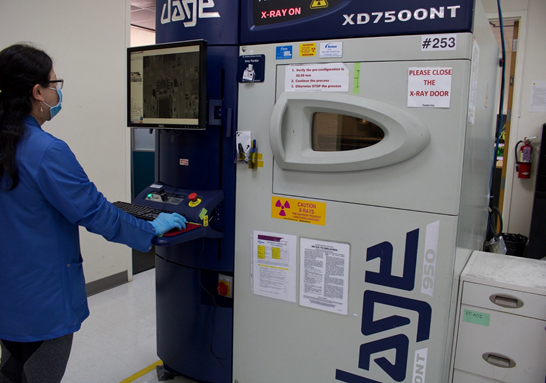 X-ray inspection facility at Sierra Circuits