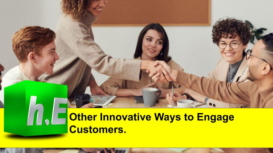 Other Innovative Ways to Engage Customers.