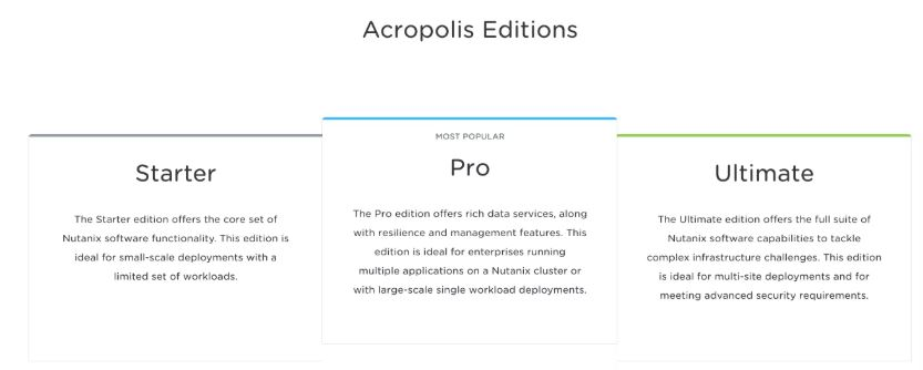 expert in nutanix acropolis license management