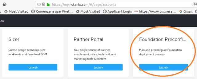 Nutanix foundation preconfiguration deployment