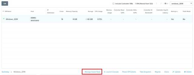 Download Nutanix NGT Tool for Windows Linux Guest VM