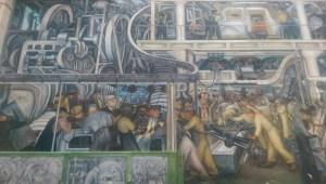 motor city mural at the detroit institute of arts.