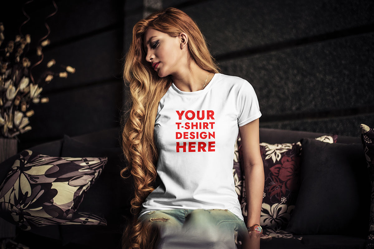 ✓ free for commercial use ✓ high quality images. Young Woman T Shirt Mockup Psd Download For Free Hyperpix