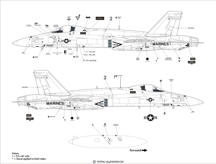 Marine Fighter Squadron One Two Two Decals Review by