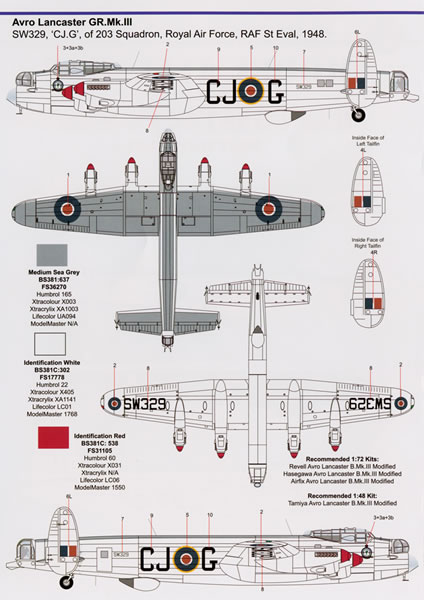 RAF Coastal Command Post-War Part 1 Decal Review by Rodger