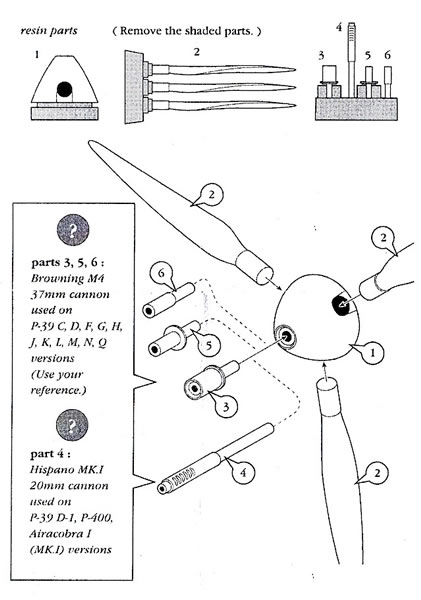 S.B.S. Model 1/48 scale P-39 Propeller Blades Review by