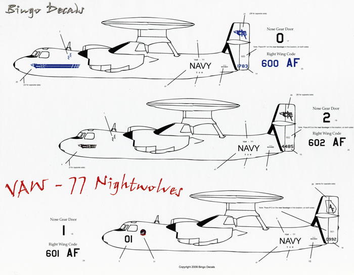 E-2C Hawkeye Decal Revie wby Rodger Kelly (Bingo Decals 1
