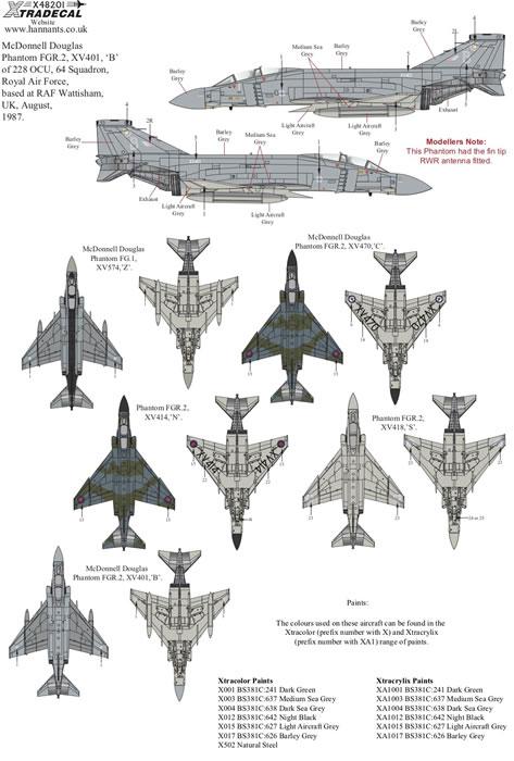 Xtradecal 1/48 scale Royal Air Force Phantom FG.1 & FGR.2