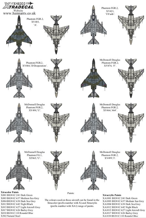 Xtradecal 1/48 scale Royal Air Force Phantom FG.1 & FGR.2
